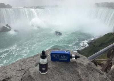 Ryan Flavors Vape with Niagra Falls at the back
